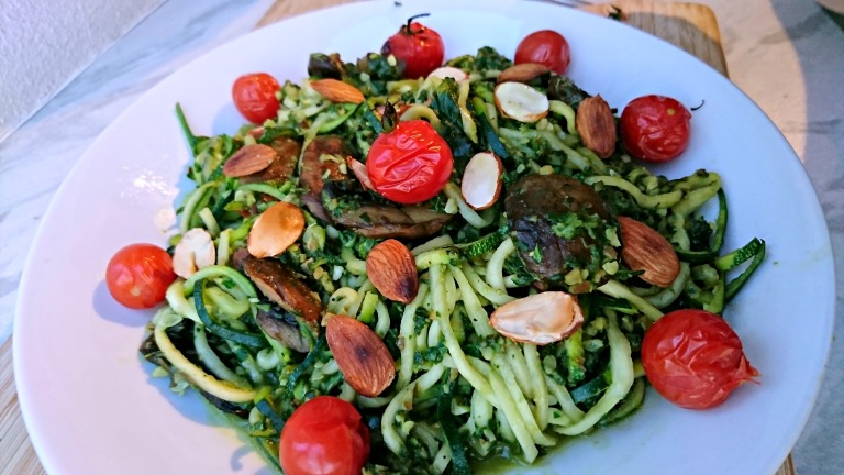 Homemade Low Carb Pasta Courgetti Healthylicious By Laura